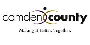 Camden County text logo