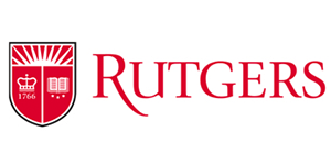 Rutgers University text logo with shield