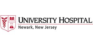 University Hospital Newark New Jersey logo with shield